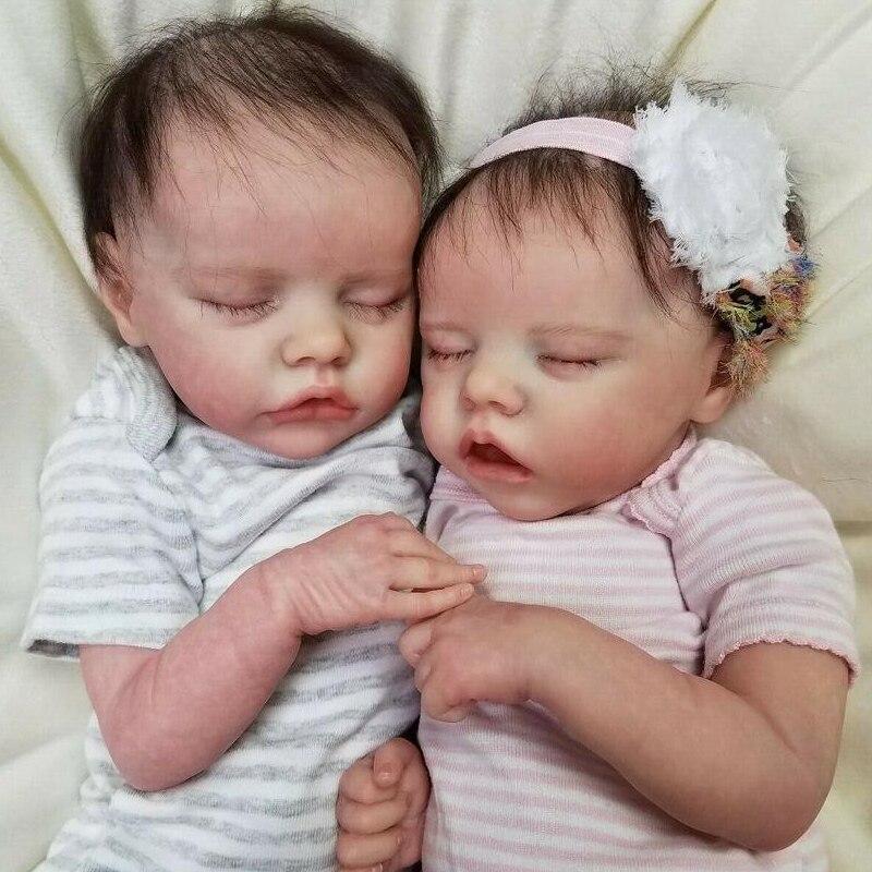 Rbg kit renascer kit de vinil do bebê 17 Polegada twin a twin b unpainted unpainted unpainted desmontar peças boneca diy em branco reborn boneca kit