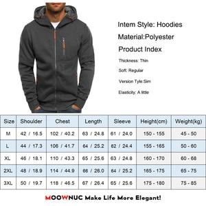 Image 5 - Mens Hoodies Cardigan Streetwears 2020 New Hat Solid Thin Spring Hombre Casual Hip Hop Slim Street Dress Fashion MOOWNUC Jogge