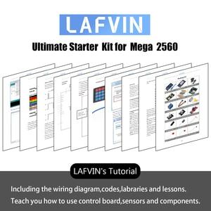 Image 4 - LAFVIN Mega 2560 Kit completo de iniciación, incluye LCD1602 IIC/Sensor ultrasónico para Arduino con Tutorial