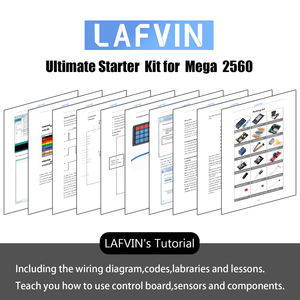 Image 4 - LAFVIN Mega 2560 Project Complete Starter Kit including LCD1602 IIC / Ultrasonic Sensor for Arduino with Tutorial