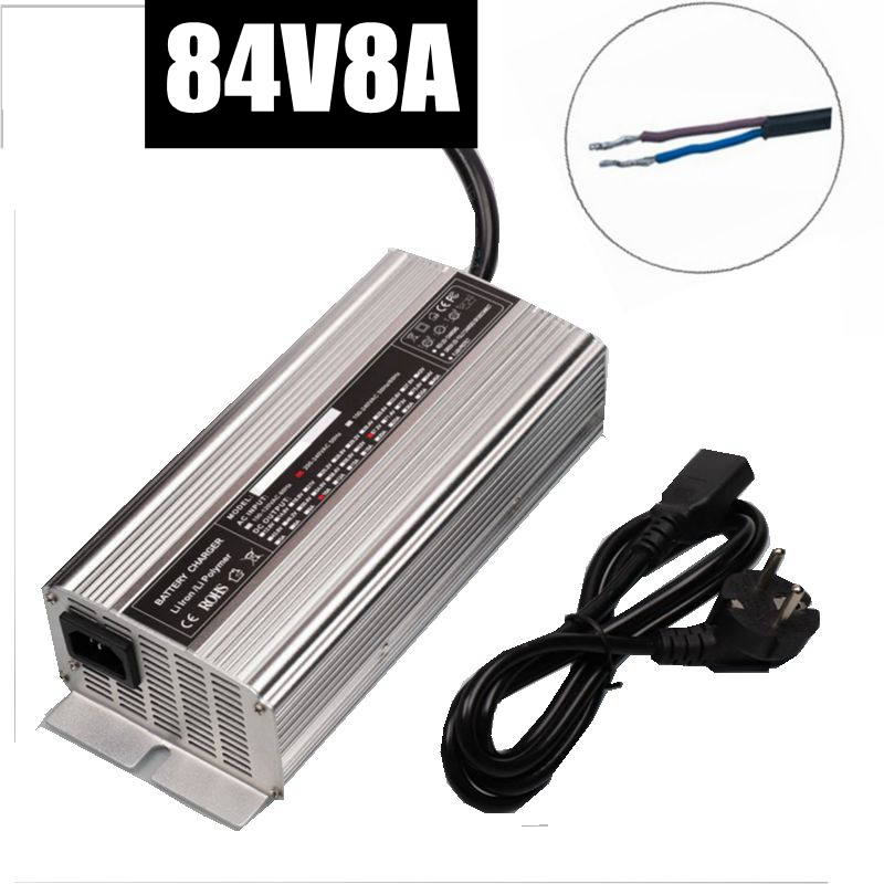 84V 8A lithium smart battery charger for 72V 20S electric bicycle electric motorcycle battery charger Li-Ion 672 watts high powe