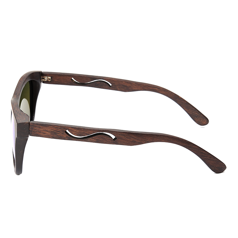 BG006d -CZC  Ebony Wooden Sunglasses for Women And Mens With Bule Polaried Lens  (6)