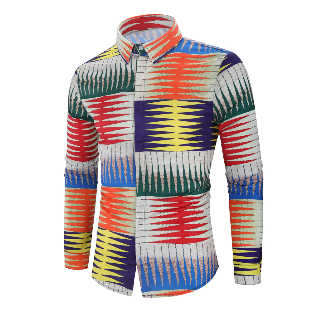 Male Shirt Paisley Long-Sleeve Printed Floral Luxury Men's Casual Fashion