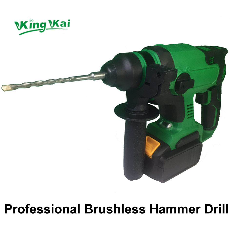 Electric Cordless Brushless Samsung Battery Impact Hammer Drill (16)