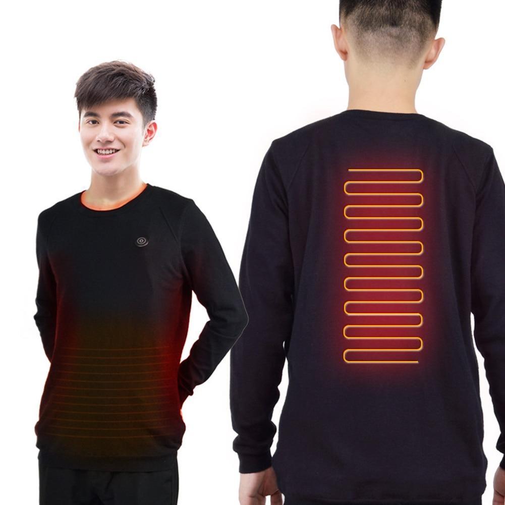 Intelligent Heating Sweater USB Electric Heating Sweatshirt Warm Carbon Fiber Heated Jacket For Both Men And Women