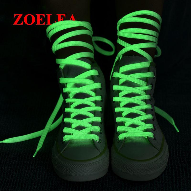 1 Pair Luminous Shoelaces Flat Sneakers