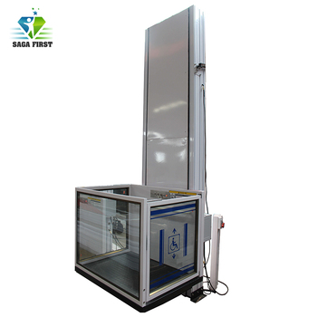 Car Lift Prices | 5.5 M 250 Kg The Disabled Home Vertical Wheelchair Lift Platform Price With CE