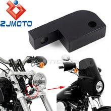 Bloco de extensão do farol de alumínio da motocicleta para harley dyna fxdl fxdf fxdb fxdwg 39-49mm garfo farol suporte de deslocalização