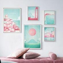 Постер знаменитого мира для путешествий, Римский постер, испанские аттракционы, Картина на холсте, настенные художественные плакаты и прин...