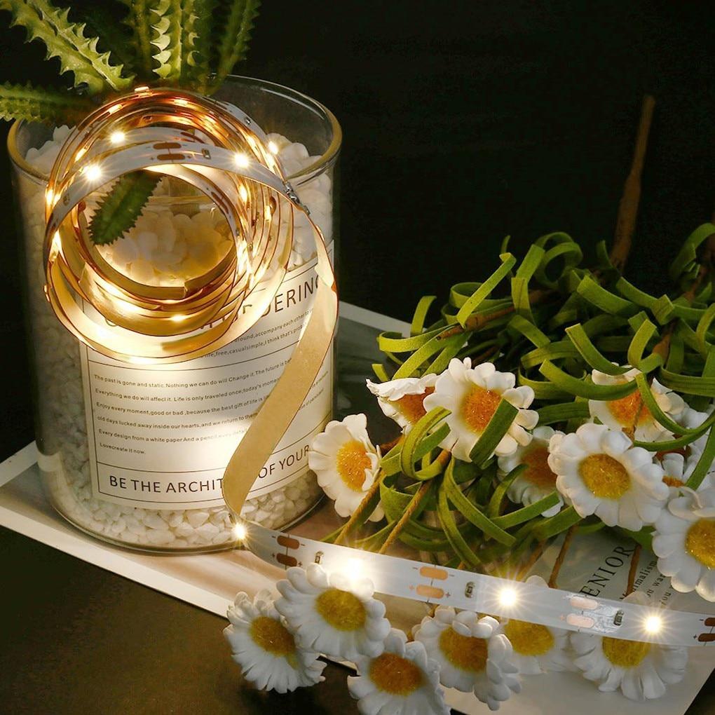 IP44 Waterproof LED Strip Light 30 2835 Beads Cabinet Bedroom Bar Decorative Lamp Strips 5V 1m