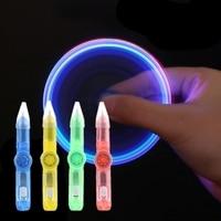Spinner ligero 2 en 1 para aliviar el estrés, Combo creativo e Invisible de tinta que brilla en la yema del dedo, giroscopio giratorio, juguetes para aliviar el estrés