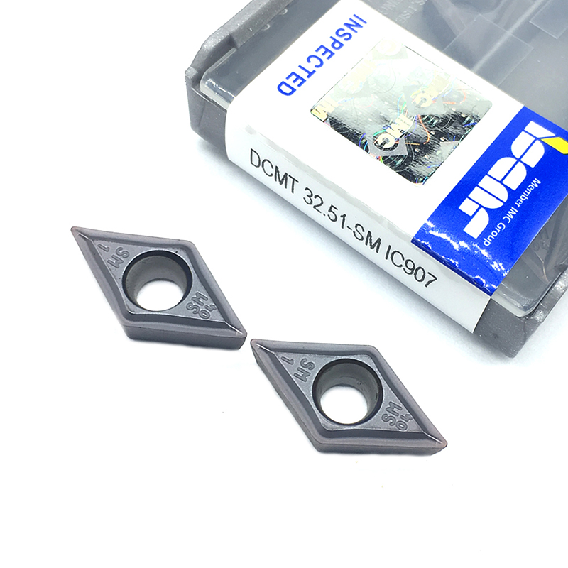 10PCS DCMT11T304 SM IC907 Internal Turning Tool Dcmt 11t304 Carbide Insert Lathe Cutter Tool  Turning Insert