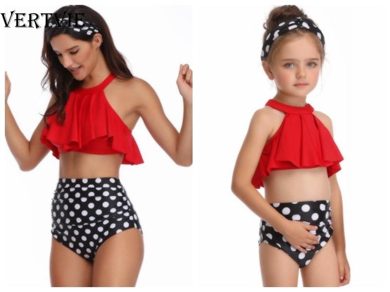 VERTVIE 2020 Teenager Girls Swimsuit Kids Swimwear Tassel Girl Bikini Halter Top Bathing Suit Fringe Fashion Children Swim Wear