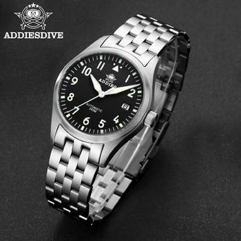 Addies Dive Pilot Watch Automatic Mechanical Diver Watch C3 Luminous men's watches divers Sapphire Crystal 200m dive watch NH35 5