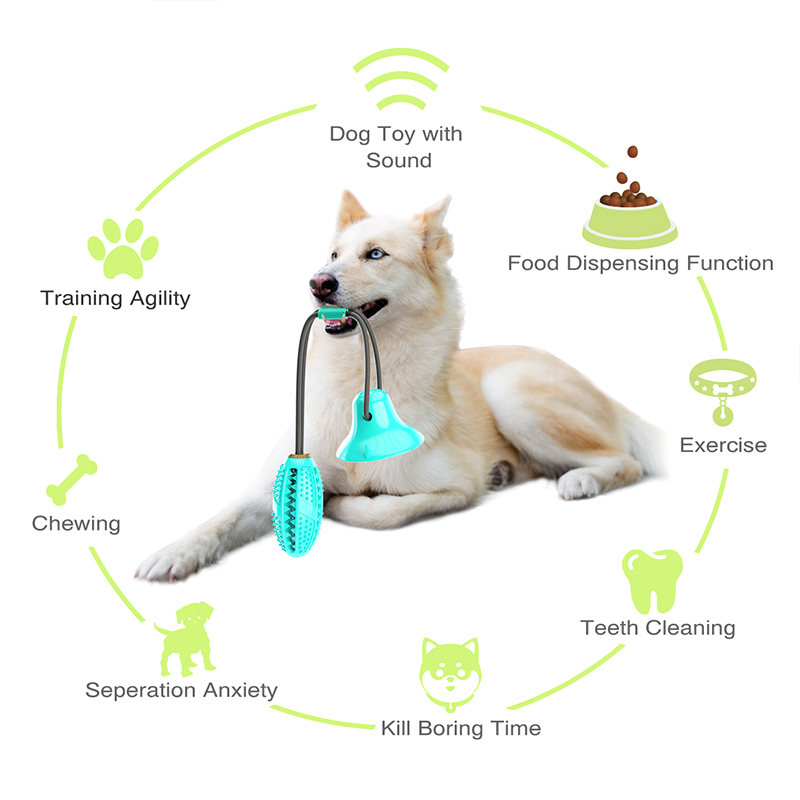 Собака игрушки силиконовые чашки всасывания буксир игрушка для домашних животных собак пуш-ап шарик-игрушка для питомцев для чистки зубов собаки Зубная щётка для щенков и небольших собак игрушка для кусания-1