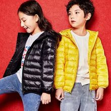 Children down jacket is short of thin warm hooded coat Winter Coats Girls