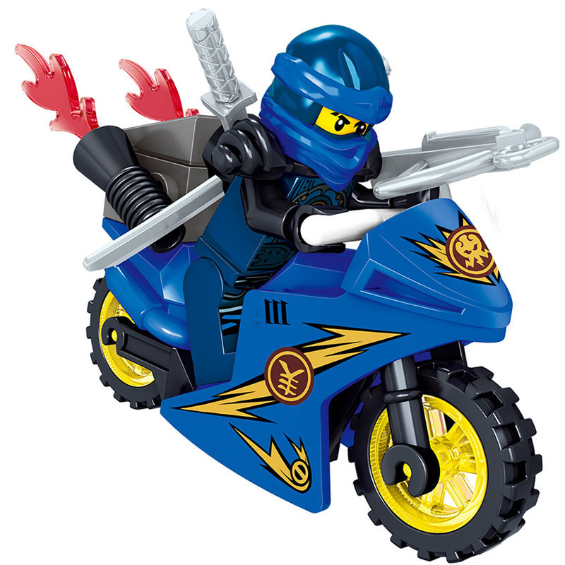 Motorcycle Children Toy Building Blocks Puppets Phantom NinjaED Weapon Equipped DIY Building Bricks Kids Assemble Toys