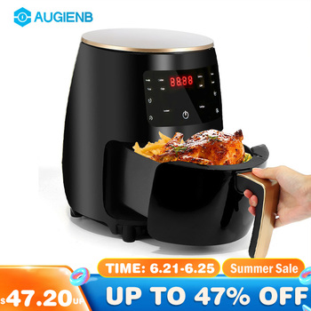 4.5L 1400W 220V Multifunction Air Fryer Oil free Health Fryer Cooker Smart Touch LCD Deep Airfryer Pizza Fryer for French fries 1