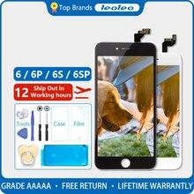 ЖК дисплей и дигитайзер тачскрина в сборе, для iPhone 6 6G, 4,7 дюйма, черного и белого цвета, без битых пикселей, подарки