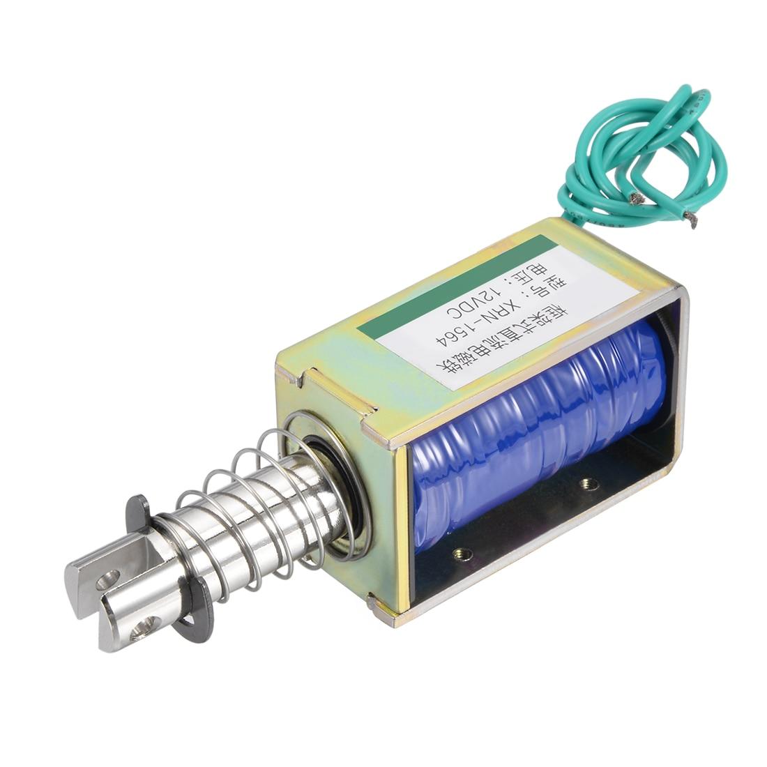 Uxcell XRN-1564 DC 12V 60N 10mm Pull Type Open Frame Solenoid Electromagnet