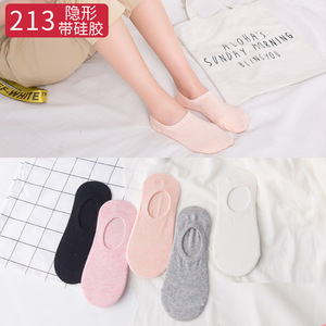 Image 5 - 5Pairs Arrivl Women Socks Funny Fruits Cute Happy Silicone Slip Invisible Cotton Sock 35 40 Printed Socking Christmas Gift