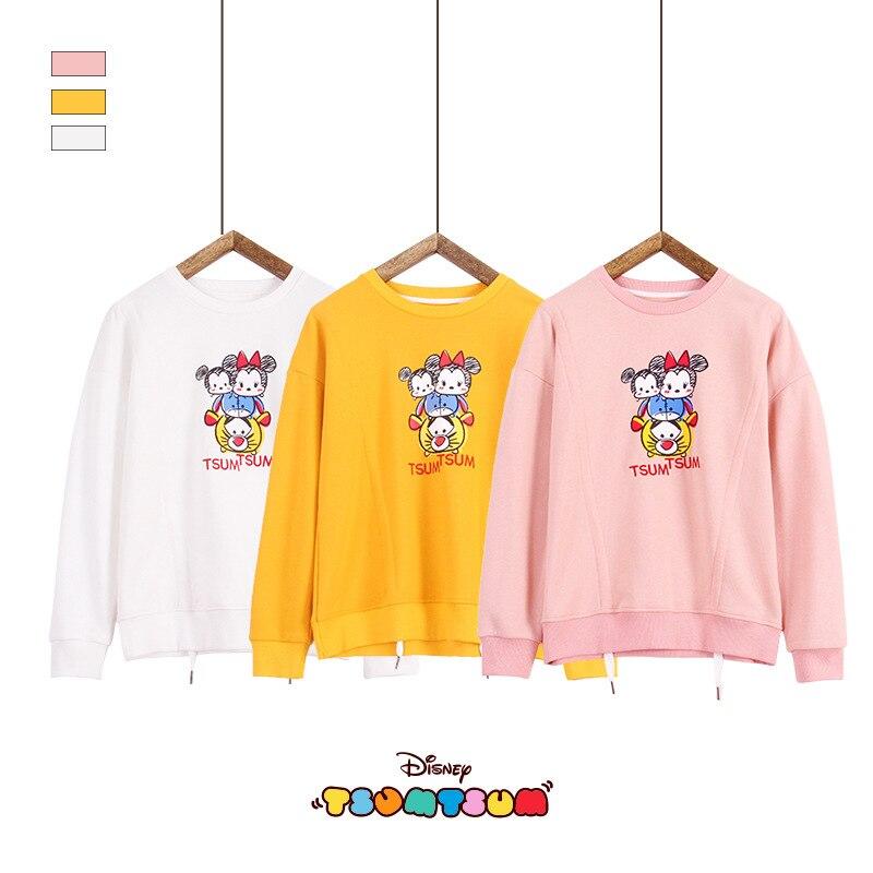 Original Disney Women's Jimmy Bear New School Girl Sweatshirt Round Neck Big Kids winter tops