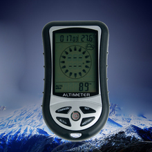 8-in-1 Handheld Electronic Altimeter Compass Pressure Gauge Elevation Meter Thermometer Outdoor Fishing Barometer 30