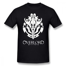 Overlord T Shirt Overlord Anime Guild Emblem Ainz Ooal Gown T-Shirt Graphic Short-Sleeve Tee Shirt Man Oversize Tshirt(China)