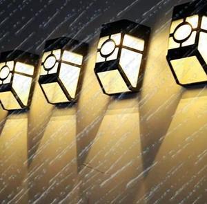 Светодиодный светильник на солнечной батарее, настенный светильник для безопасности, IP65 водонепроницаемый уличный светильник для коридор...