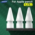3/ 6/ 10 шт., сменные наконечники для стилуса, совместимые с Apple Pencil 1-го 2-го поколения, запасные наконечники для карандаша Apple