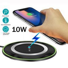QI 10W hızlı kablosuz şarj pedi Huawei P30/Mate 20 Pro Samsung S10 iPhone XS için kablosuz şarj Pad Dock İstasyonu masaüstü