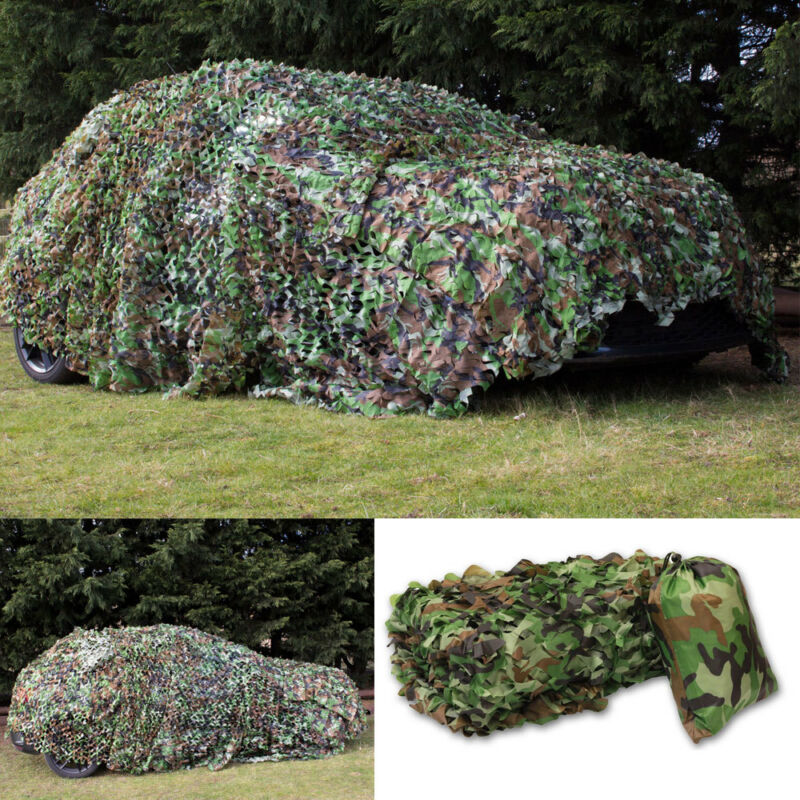 Outdoor Military Camouflage Net Camo For Hunting Covering Camping  Leaves Hide Sun Shelter Car-Cover Hunting Tent