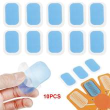 10PCs Muscle Training Gel Aufkleber Replecaable Inirritative Hydrogel Matte Pad Hohe Haftung Übung Patch Für Bauch Training(China)