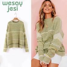 цены на Sweater Women O-neck 2019 Autumn Winter mohair Knitted chic Jumper Women Sweaters And Pullovers Female Pull Femme в интернет-магазинах