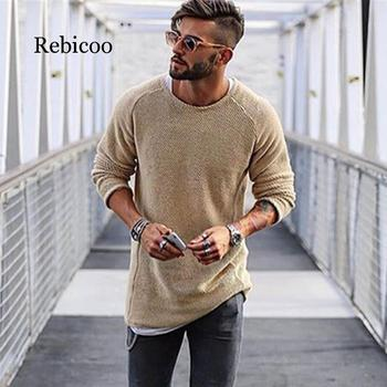 2019 autumn and winter fashion men's sweater warm thickening slim men's pullover 100% cotton trend knit jacquard sweater pullove 2019 autumn 100