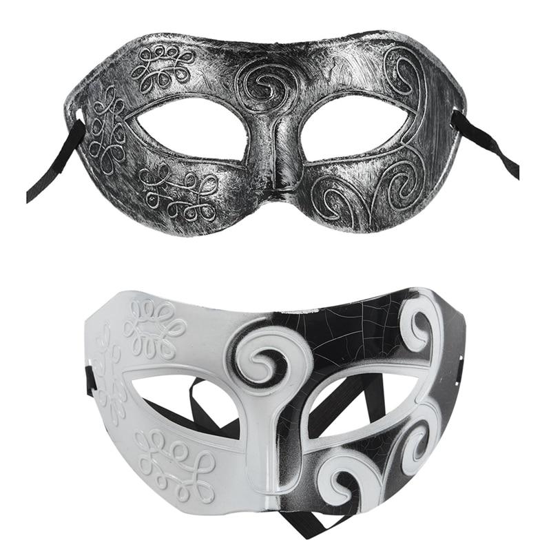 Mens Black White Bauta Masquerade Mask Costume high school prom bachelor party