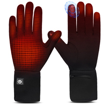 Sports-Gloves Liner Battery-Heating Day-Wolf Heated Unisex Touch-Screen Riding Warm Running