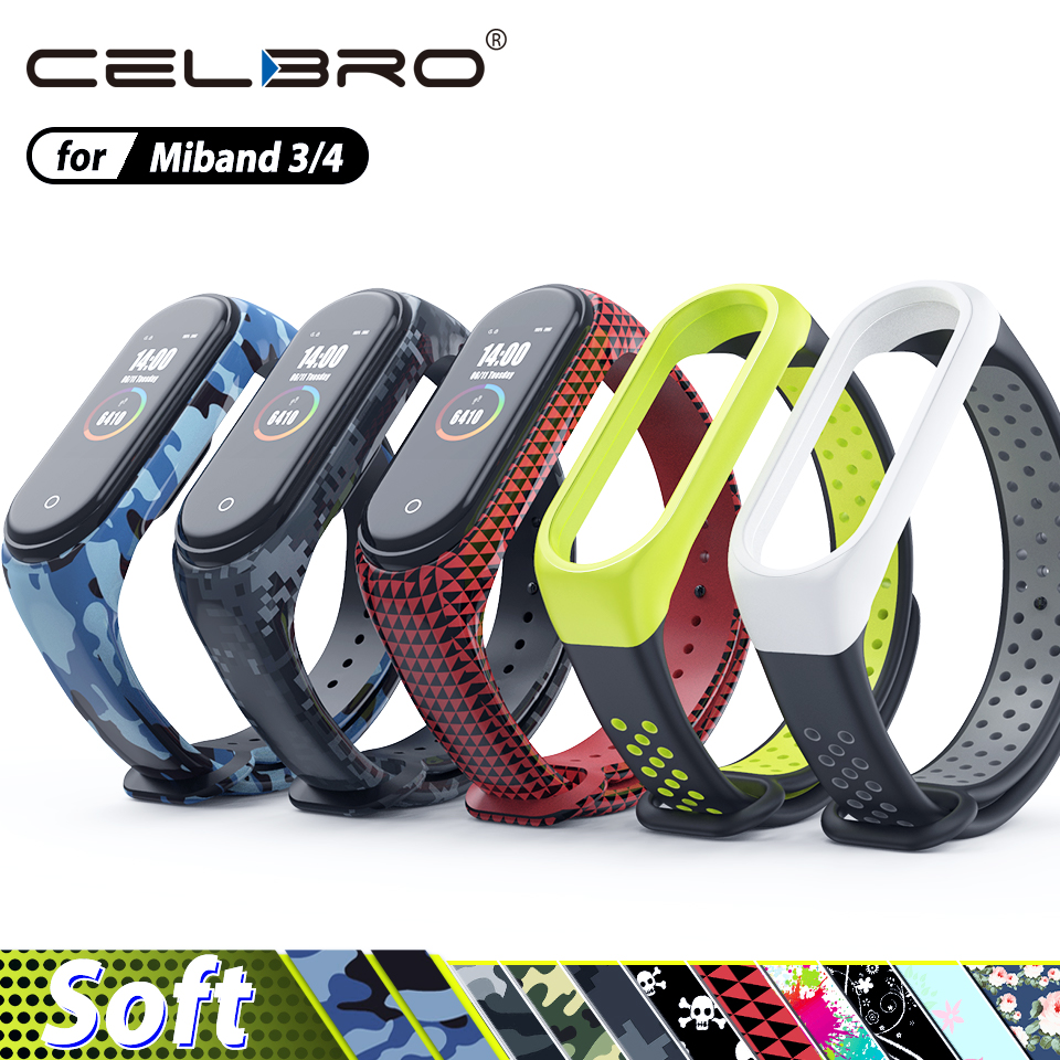 Silicone Bracelet for Xiaomi Mi Band 4 3 Strap Camouflage Wristband Replacement Watch Strap for Xiaomi Miband 4 Band3 NFC Belt(China)