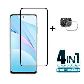 4-in-1 per Xiaomi Mi 10T Lite Glass Per Mi 10T Lite Proteggi schermo in vetro temperato per Redmi Note 9 Pro Mi 10T Lite Lens Glass