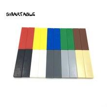 Smartable tile 1x4 с пазом плоские шпильки строительные блоки