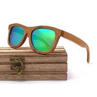 Wayfarer Full - Bambou Foncé - Vert - Coffret en bois