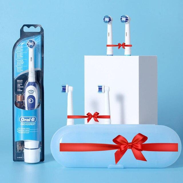 Oral b sonic escova de dentes elétrica db4010 bateria oprated rotativa escova de dentes elétrica precisão limpa cabeça da escova adulto