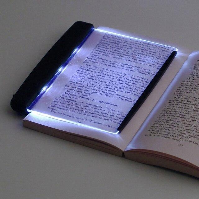 Creative Flat Plate LED Book Light Reading Night Light Portable Travel Dormitory Desk Lamp Home Indoor Kid Bedroom Read Gadgets
