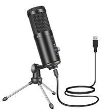 F1 USB Microphone de studio professionnel à condensateur pour PC ordinateur enregistrement Streaming jeu karaoké chant support de micro