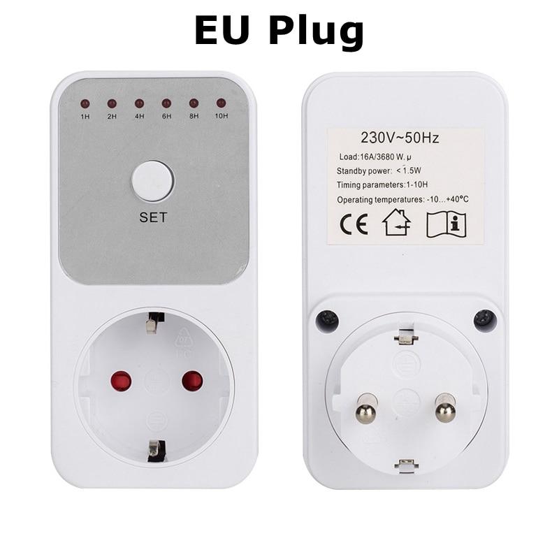 Electronic Digital Timer Switch EU UK BR FR Plug 240V 50Hz Kitchen Timer Countdown Time Setting Swtich Timing Socket