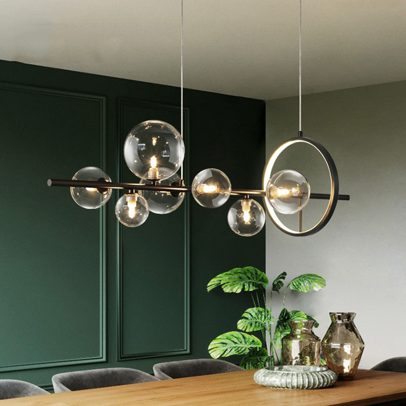 Modern Creative Metal Chandelier lighting 7 10 Clear Glass Bubbles G9 Sockets Light Fixture Home Lights Living Room Kitchen