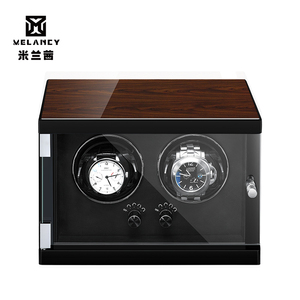 Image 4 - New Wood Watch Winder For Watches Black Piano Paint Automatic Self Watch Winders Wooden And PU Leather Watch Accessories