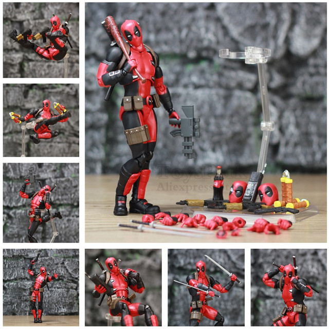 Deadpool Exclusive Action Figure with Custom Weapons 6inch. 1