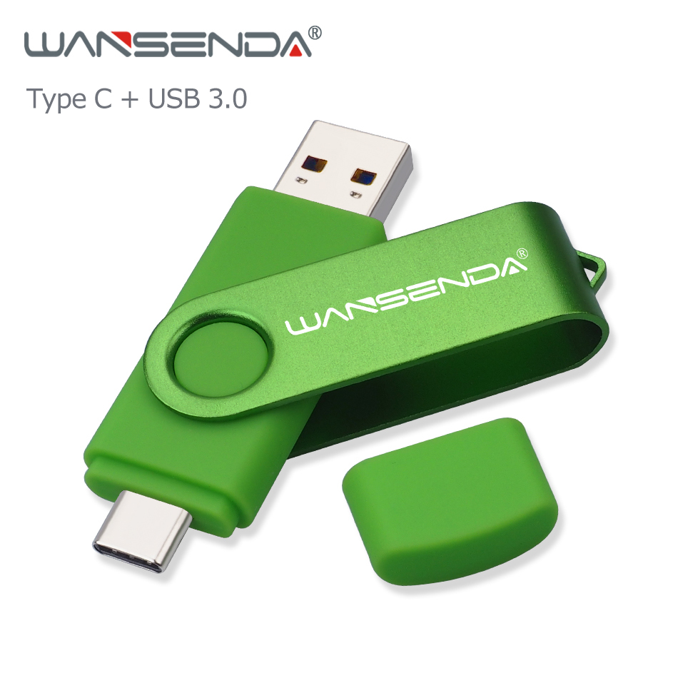 WANSENDA OTG USB Flash Drive 512GB Pendrive 256GB USB Stick For Type C/PC Pen Drive 128GB 64GB 32GB Cle USB 3.0 Memory Stick