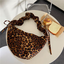 Ретро складные женские сумки мессенджеры с леопардовым принтом